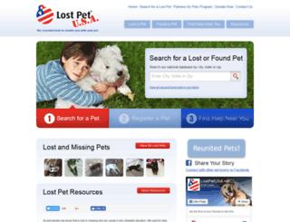 search.lostpetusa.net screenshot