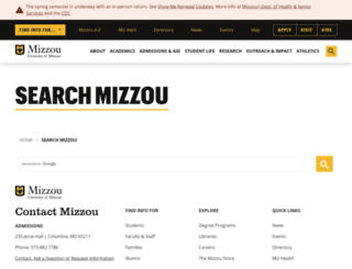 search.missouri.edu screenshot