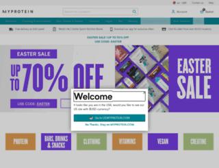 search.myprotein.com screenshot