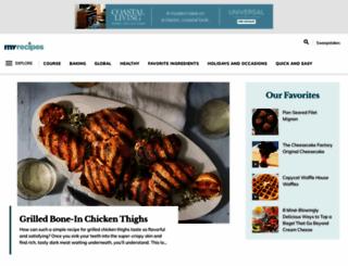 search.myrecipes.com screenshot