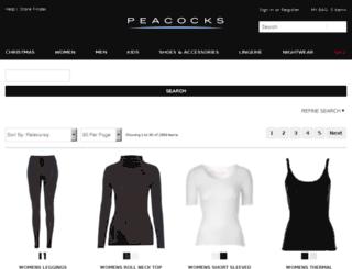 search.peacocks.co.uk screenshot