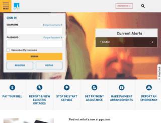 search.pge.com screenshot