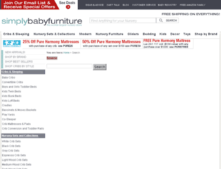 search.simplybabyfurniture.com screenshot