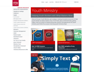 search.simplyyouthministry.com screenshot