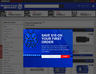 search.sinisterdiesel.com screenshot