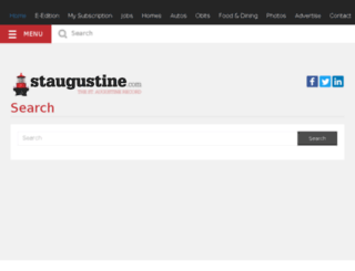 search.staugustine.com screenshot