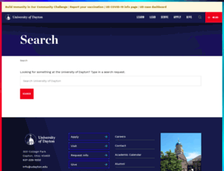 search.udayton.edu screenshot