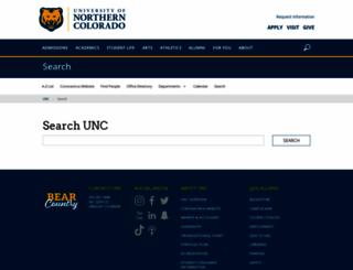 search.unco.edu screenshot