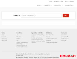 search.utas.edu.au screenshot