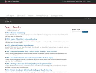 search2.capella.edu screenshot
