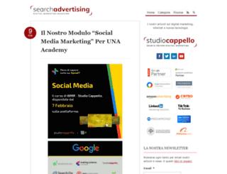 searchadvertising.it screenshot