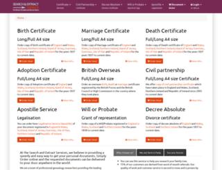 searchandextract.co.uk screenshot