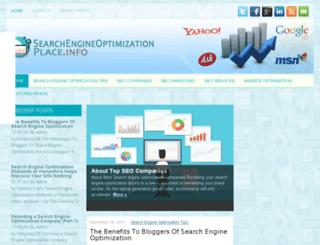 searchengineoptimizationplace.info screenshot