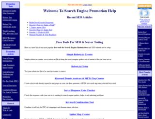 searchenginepromotionhelp.com screenshot