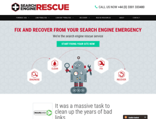 searchenginerescue.co.uk screenshot