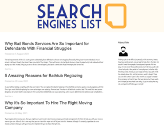 searchengineslist.biz screenshot