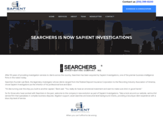 searchersinvestigating.com screenshot