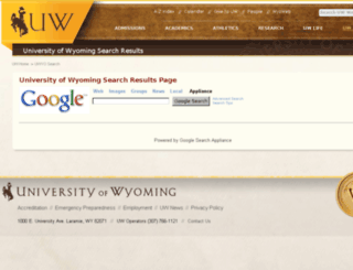 searchuw.uwyo.edu screenshot