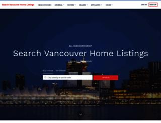 searchvancouverhomelistings.com screenshot