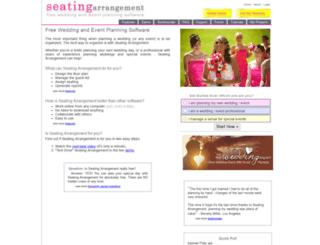 seatingarrangement.com screenshot