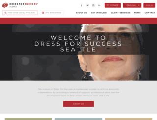 seattle.dressforsuccess.org screenshot
