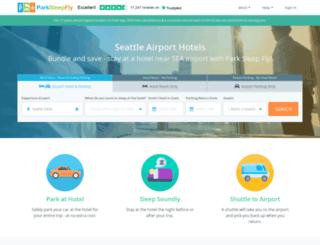 seattle.parksleepfly.com screenshot