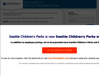 seattlechildrens.corporateperks.com screenshot