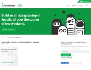 seattlemaker.startupweekend.org screenshot