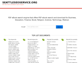 seattleseoservice.org screenshot
