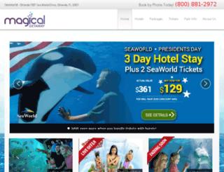 seaworld.magicalgetaway.com screenshot