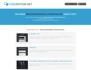 sebaceousprominence.forumotion.net screenshot