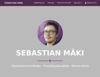 sebastianmaki.fi screenshot