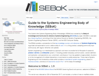 sebokwiki.org screenshot