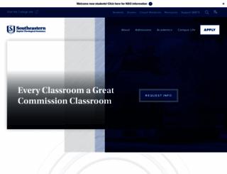 sebts.edu screenshot