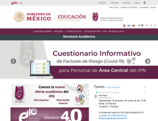 secacademica.ipn.mx screenshot