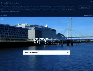 secc.co.uk screenshot