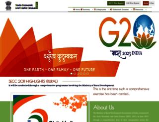 secc.gov.in screenshot