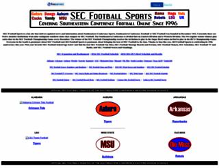 secfootball.itgo.com screenshot