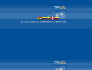 secgen.comunidadandina.org screenshot