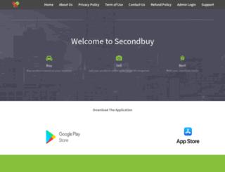 secondbuy.in screenshot