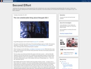 secondeffort.blogspot.com screenshot