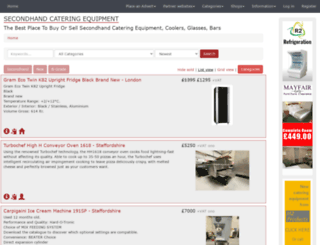 secondhand-catering-equipment.co.uk screenshot