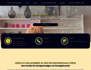 secondhand-halle-riesa.de screenshot
