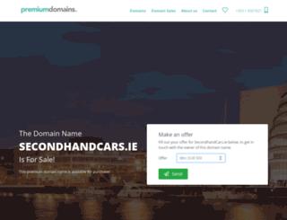 secondhandcars.ie screenshot
