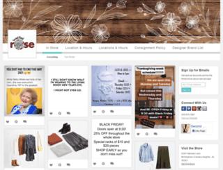 secondhandrose.boutiquewindow.com screenshot
