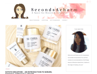 secondsacharm.com screenshot