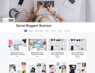secretbloggersbusiness.selz.com screenshot