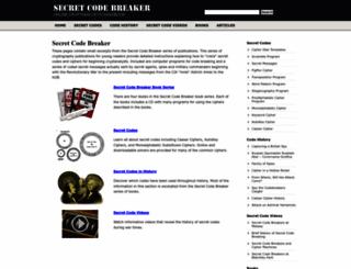 secretcodebreaker.com screenshot