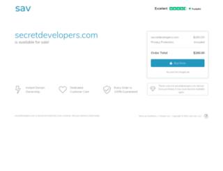 secretdevelopers.com screenshot