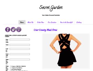 secretgardenfashionstore.blogspot.com screenshot